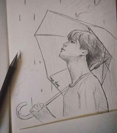 Love yourself bts art jimin Kpop Fanart, Jimin Fanart, Kpop Drawings, Pencil Art Drawings, Drawing Sketches, Drawing Art, Fan Art, Bts Chibi, Art Sketchbook