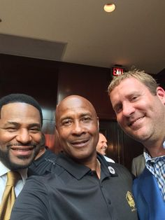 Jerome Bettis, Lynn Swann and Big Ben at the Pro Bowl Celebration.