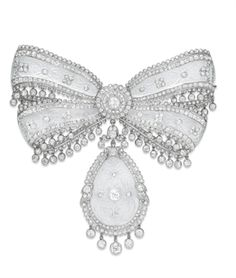 A SUPERB BELLE EPOQUE DIAMOND AND ROCK CRYSTAL BOW BROOCH, BY CARTIER | Jewelry Auction | 1910s, Jewelry | Christie's
