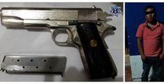 Por portación ilegal de arma de fuego policía estatal detiene a varón en Salina Cruz