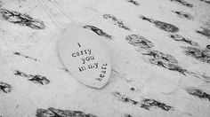 I carry you in my heart. Hand stamped spoon pendant. Www.etsy.com/shop/impressionsstamped