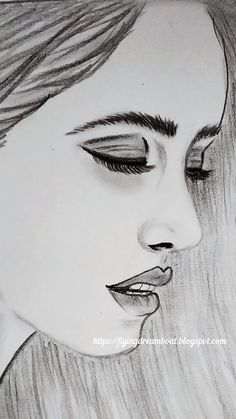 Side Face Drawing, Face Pencil Drawing, Pencil Art, Pencil Sketches Of Faces, Drawing Sketches, Pencil Drawings, Art Drawings, Simple Face, Face Sketch