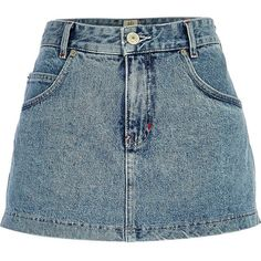 River Island Light wash denim skort  (its a skort which makes it even more perfect okay)