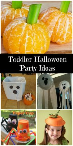 Throw a kids party with games, crafts … Toddler Halloween Party Ideas. Throw a kids party with games, crafts and food. Preschool Halloween Party, Halloween Crafts For Kids, Halloween Food For Party, Cute Halloween, Toddler Halloween Activities, Halloween With Toddlers, Halloween Birthday Parties, Halloween Kids Decorations, Haloween Games