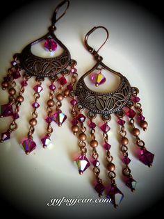 Gypsy style chandelier earrings by GypsyJean on Etsy, $30.00