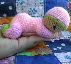 Вязаная кукла-сплюшка Малыш крючком