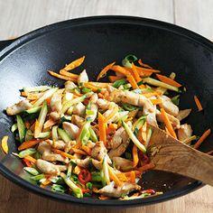 Hähnchen-Gemüse-Wok