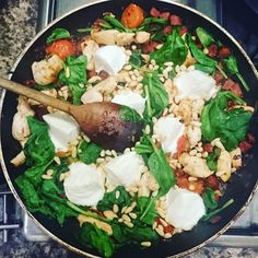 Mozzarella chicken spinach chorizo #keto #lowcarb #wicks #lifestyle #homecooking #health - Inspirational and Motivational Ketogenic Diet Pins - Eat Keto Get Into Nutritional Ketosis - Discover LCHF to Prevent Diseases - Enjoy Low-Carb High-Fat Lifestyle For Better Health