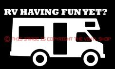 """Happy Camper"" RV Camper, Camping, Vacation, viny decal sticker funny cute #TheVinylShop"