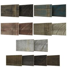 Rustic and reclaimed wood plank wall product. Simple to install. Glue or nail to the wall. Thick boards that won't split upon nailing. Stocked.