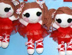 Little Ballerina Rag Doll by QuirkyArtistLoft on Etsy, $10.00