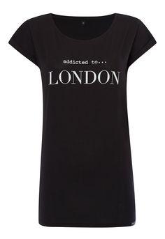 Addicted to London black t-shirt