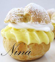 .....NINA'S RECIPES.....: BANANA CREAM PUFFS