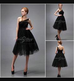 Black bridesmaid dress idea