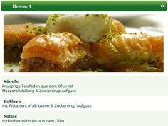Fast so bekannt (und auch beliebt) wie der Döner Kebap, sind auch die orientalischen Desserts, wie z.B. Baklava, Künefe oder Sütlac.  Lassen Sie sich von den orientalischen Spezialitäten verführen und wählen in Ruhe Ihre gewünschten orientalischen Spezialitäten beim Meram Restaurant Lieferservice aus.