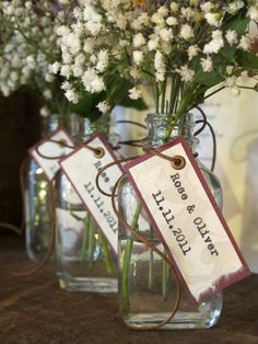 nature inspired wedding favors, could also be the decoration for the tables. @Denise H. Kessler