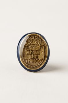 laugh at all the things // Pressed Coin Knob - Anthropologie.com