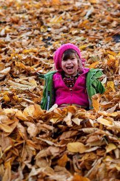 Fall Leaves Kid Photo Inspiration
