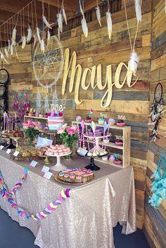 Little Big Company | The Blog: Maya's boho themed 1st birthday by Rebecca King More