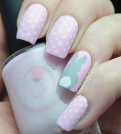 pink-easter-nails-with-rabbit