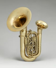 """Double tuba and baritone by H. White called the """"Bellophone"""" in BB-flat, American, at The Metropolitan Museum of Art Motif Music, Tuba Pictures, Old Musical Instruments, Art Of Noise, Cool Guitar, Sound Of Music, Classical Music, Brass Band, Metal"""