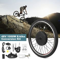Electric Bicycle, Electric Motor, E Scooter, Bike Wheel, Led Headlights, Conversation, Kit, Free Shipping, Health