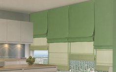 Cucina-con-le-tende-a-pacchetto-verdi.jpg 1.308×819 pixel