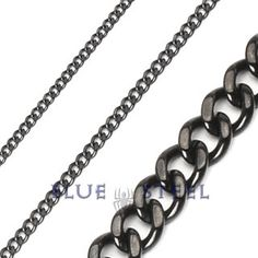 PIN IT TO WIN IT! Black Linx: This PVD Black 316L Stainless Steel Chain Necklace is simple yet looks powerful, the flat locks with shiny black finsh adds to the glamour. As you can chose from different specifications of measurement, you can surely chose the best to give you a masculine look.      $99.99  www.buybluesteel.com