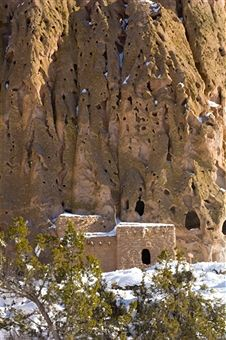 Anasazi ruin, Frijoles Canyon, Bandelier National Monument; New Mexico -- Getty Images