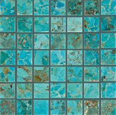 "ANN SACKS Asteria 3/4"" straight mosaic in turquoise"
