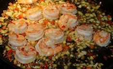 Scampi i chili og hvitløk Scampi, Finger Foods, Tapas, Shrimp, Chili, Food And Drink, Lunch, Snacks, Entertaining