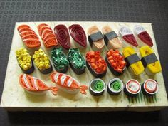 Quilled food (sushi)