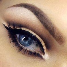 Neutral with Black Eyeliner