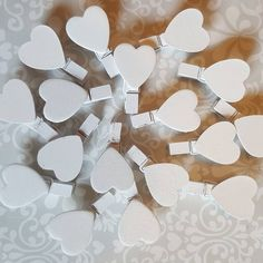 How cute are these mini wooden heart pegs?! 😍😍 #wedding #weddings #weddingdecoration #weddingdecorations #weddingdecor #weddingday #rusticwedding #rusricweddingideas #rusticweddings #rusticweddingdecor #rusticdecorations #love #hearts #uniquewedding #uniqueweddingideas #weddingtable #weddingtables #woodenhearts #rustichearts