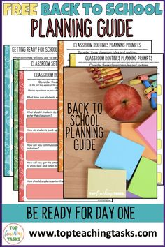 Planning The First Week of School   Top Teaching Tasks. This free back to school planning guide will help set you up for success in your first week at school. Great for beginning teachers, too. Classroom Hacks, Classroom Routines, Classroom Rules, Primary Classroom, About Me Activities, Social Studies Activities, Back To School Activities, Interactive Activities, School Plan