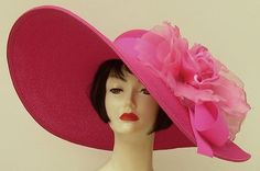 Yep.. This one is for HOPE JONES!!!! Love it!!! She would totally rock this with a LP dress... sexy pink hatters | hot pink derby hat | Hats Away
