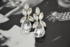 """Greta"" Swarovski Crystal Earrings - Elsa Corsi - Made in Canada - Lord's Shoes"
