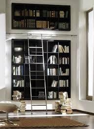 Custom Made Minimal Blackened Steel Bookshelves With