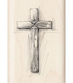 Inkadinkado Rubber Stamp - Wooden Cross & stamps at Joann.com