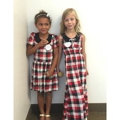 Twinning in our Ida & Penny mini maxi. We have a few of these dresses left…