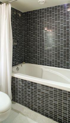 116 best bathroom tile ideas images bathroom modern - Cost to tile bathroom tub surround ...