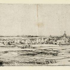 Rembrandt, Het landschap van de Goudweger ( B 234 ), 1651. Teylers Museum