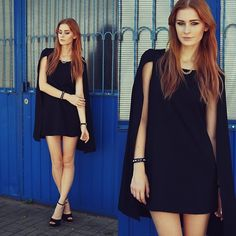 Get this look: http://lb.nu/look/6502200  More looks by Katarzyna Konderak: http://lb.nu/katepanth  Items in this look:  Dress, Heels, Hair, Necklace   #batman #dress #mademoisellekate