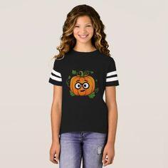 Pumpkin Nerd Emoji Thanksgiving Halloween T-Shirt - thanksgiving tshirts custom unique happy thanksgiving holiday celebrate