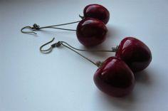 http://www.sissibrindacier.com/IMG/jpg/-251.jpg Boucles d'oreilles cerises Cherry earrings Bijou gourmand Boucles d'oreilles gourmandes
