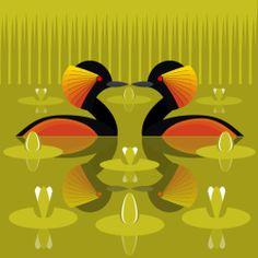 I Like Birds - The home of bird themed greeting cards and gifts. Bird Illustration, Illustrations, Futurism Art, I Like Birds, Animal Graphic, Bird Quilt, Organic Art, Naive Art, Bird Art