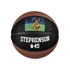 Custom Photo Name Basketball Ball - tap/click to personalize and buy  #kids #sports #photo #team #group Old Fashioned Games, Personalized Basketball, Family Fun Night, Team Pictures, Online Gift Shop, Pool Toys, Sports Photos, Kids Sports, Sports Equipment