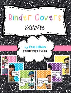 Organizing Curriculum... editable binder covers