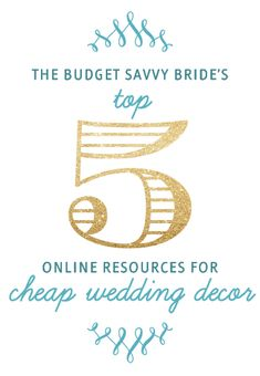 BSB's Top Resources for Cheap Wedding Decor