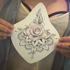 Liz has walk in space today, and some cool designs up for grabs! #hinthint #underboobtattoo #girly #rose #sternum #tattoos #perfectimage #waterloo